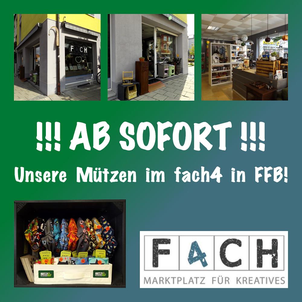 Ab sofort gibt es unsere Mützen im fach4 in Fürstenfeldbruck. Sixx-Zagg-Mützen von prettybanana.com. Deine individuelle Mütze aus München.