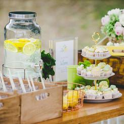 Fresh wedding styling