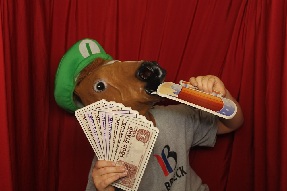cashed up horse head