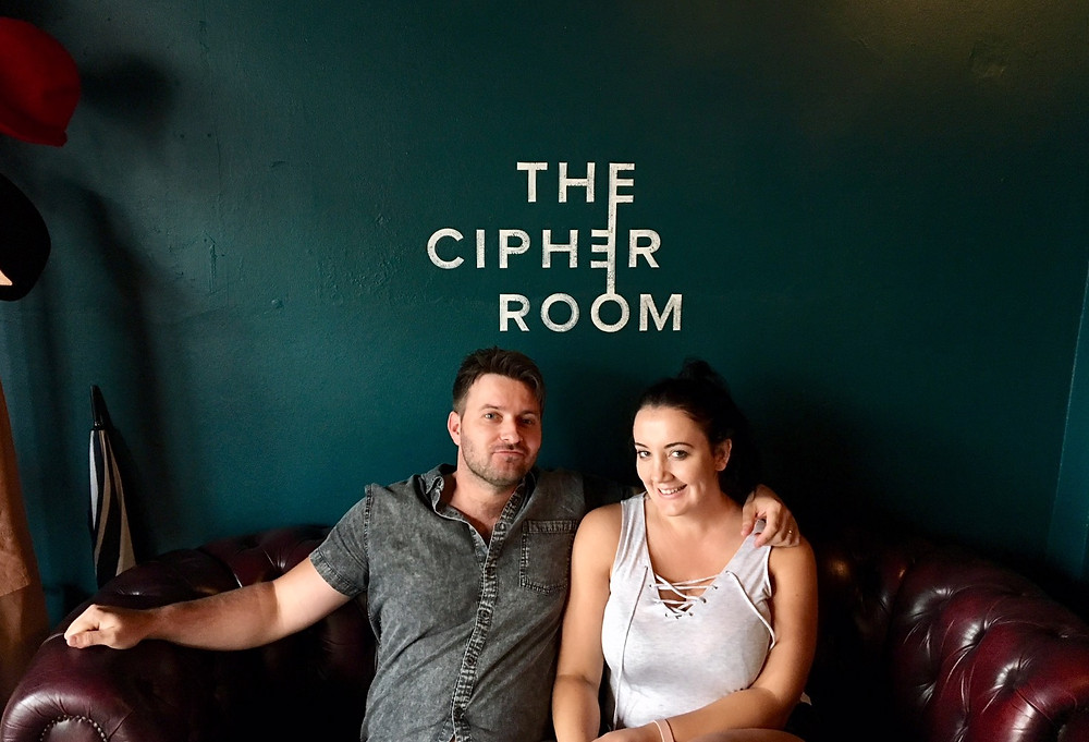 Dan and Janelle after escaping The Cipher Room