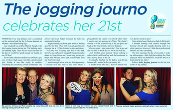 The Jogging Journo Celebrate's her 21st - with a Wooshka Photo Booth of course!