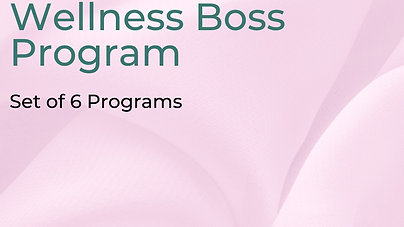 Self-Guided Wellness Boss Program - Full Set