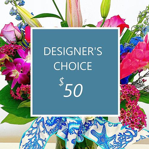 $50 Designer's Choice Fresh Florals - Fabulous !