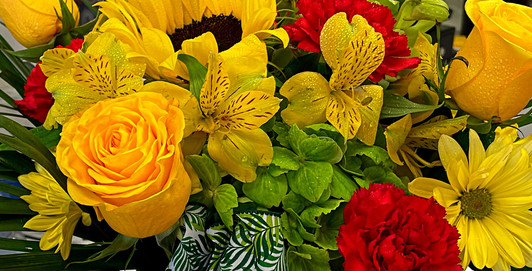 Yellow & Red Roses Sunflowers Daisys DANS GALLERY.jpg