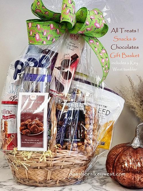 All Treats & a Tumbler Gift Basket