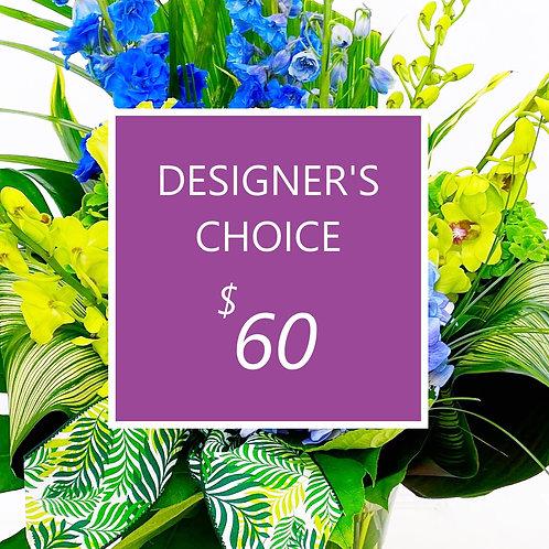 $60 Designer's Choice Fresh Florals - Exceptional !