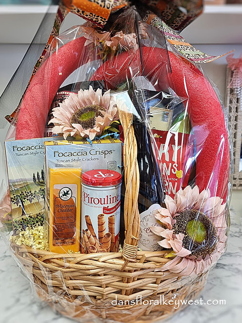 The Ultimate Wine & Snack Party Basket