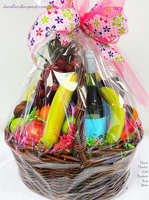 Wine & Fruit Basket