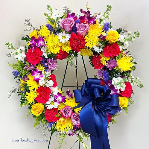 Sympathy/Funeral Multi-Color Arrangement
