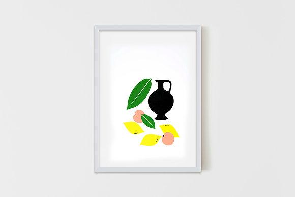 Still Life With Lemons 50X70 cm
