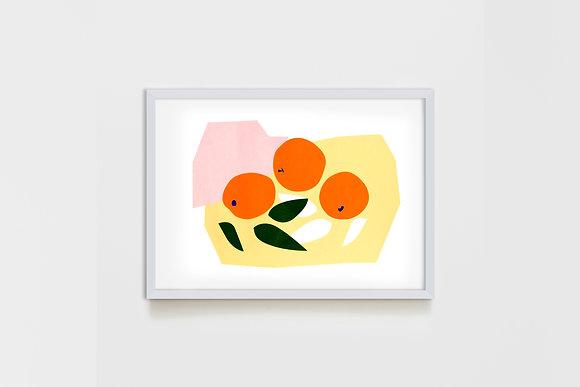 Three Apricots 25X35 cm