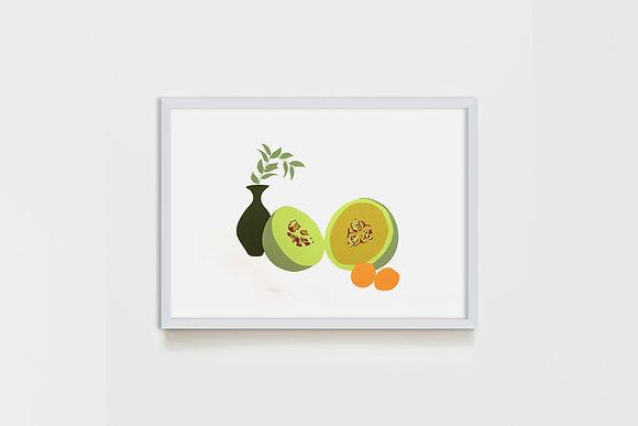 Melons & Apricot 50X65 cm