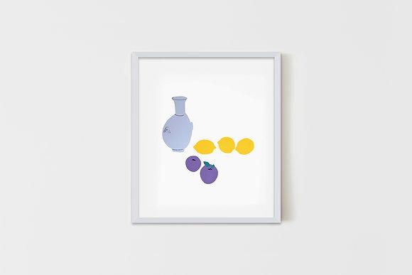 Lemons & Plums 57X51 cm