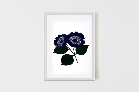 Wild Flower Blue  35X50 cm