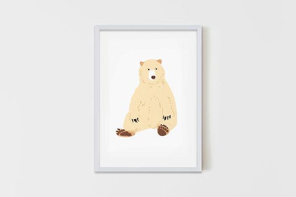 Seated Bear 15X20 cm