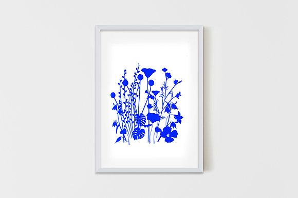 Wild Garden Blue 50X70 cm