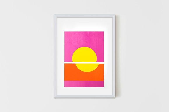 Sunset  35X50 cm