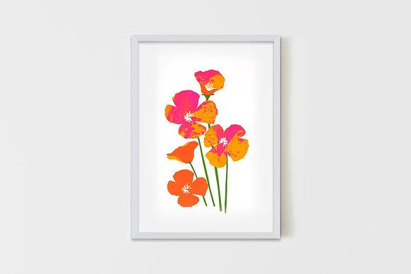 Andy's Flowers   35X50 cm