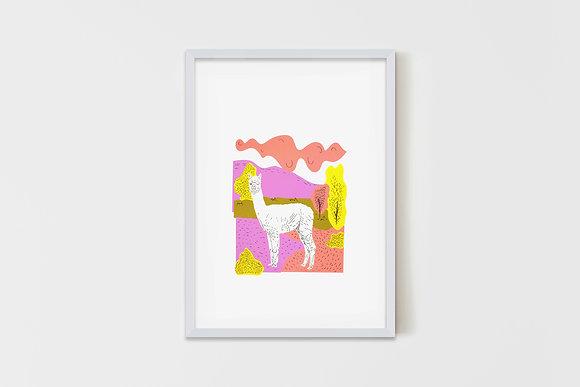 Landscape Lama #2 50X70 cm