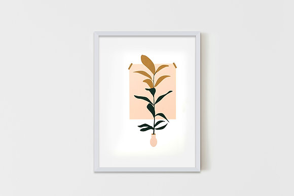 Delicate Plant  35X50 cm
