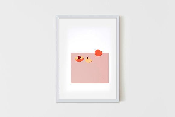 Peaches   35X50 cm