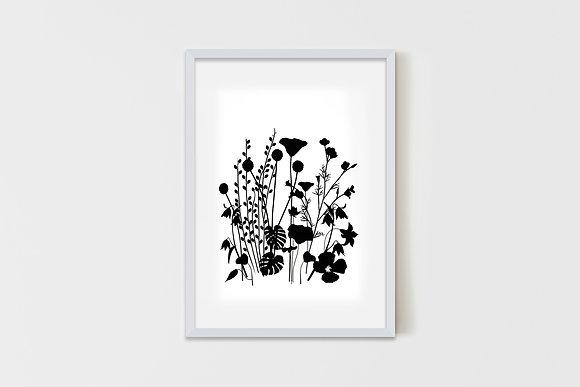 Wild Garden Black 50X70 cm