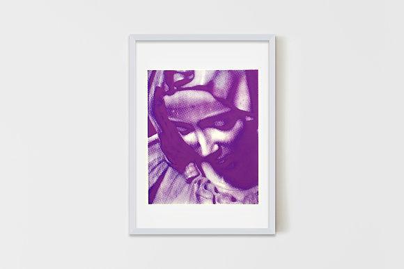 The Saint Purple 35X50 cm
