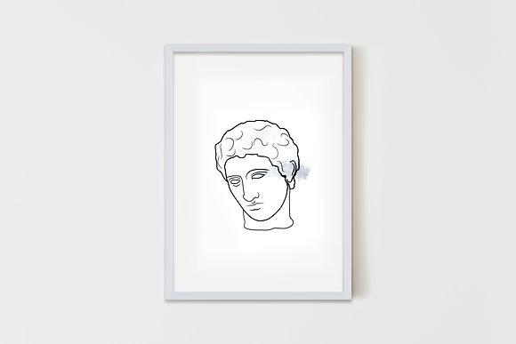 Greek Head 25X35 cm