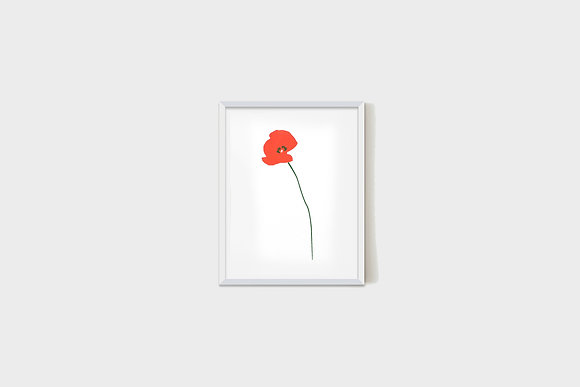 Small Red Flower 15X20 cm