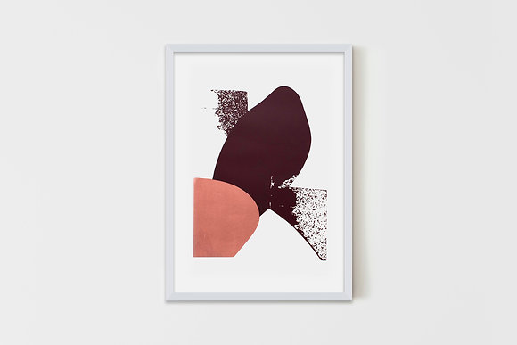 Pink and Puce Abstract 50X70 cm