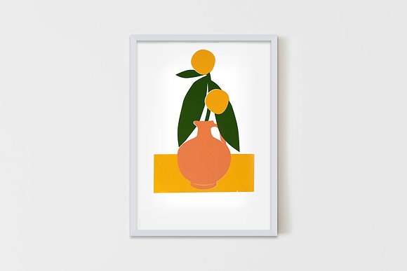 Vase With Fruits  35X50 cm