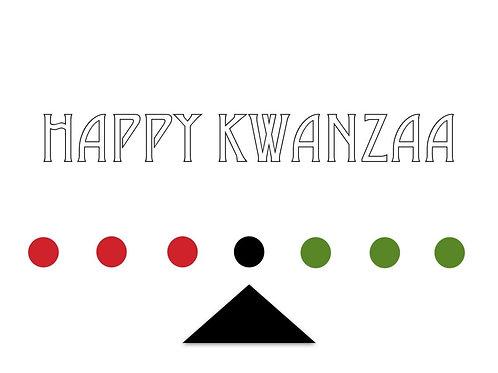 abstract kinara kwanzaa greeting card