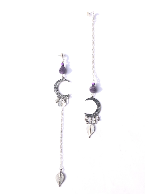 magnificent magic sterling silver & amethyst earrings