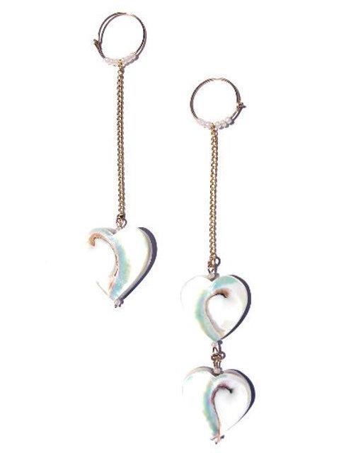 it's all love nautilus heart earrings