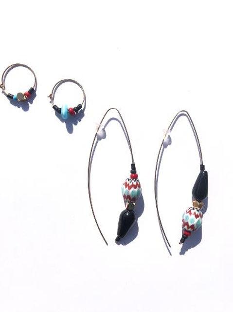 world traveler onyx & trade bead 4 piece set