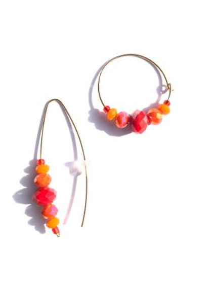 heat it up red & orange crystal earrings