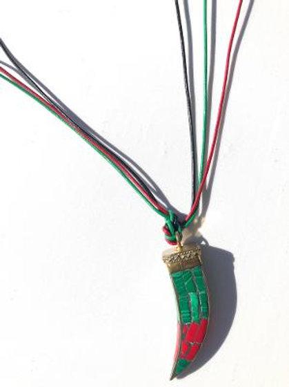 liberate yo' self malachite & red coral neckpiece