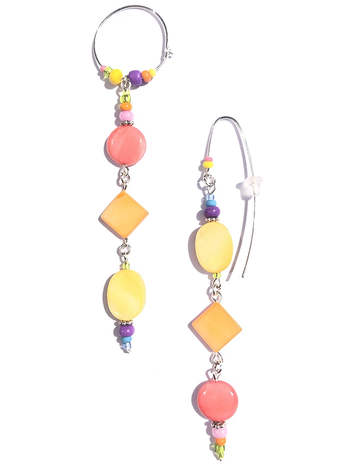 candy shoppe pastel mother of pearl & sterling silver earrings