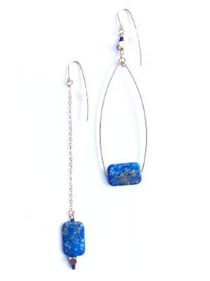 walk in the park blue swing earrings