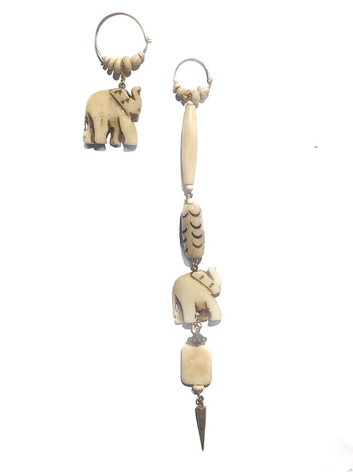 vivacious bone earrings