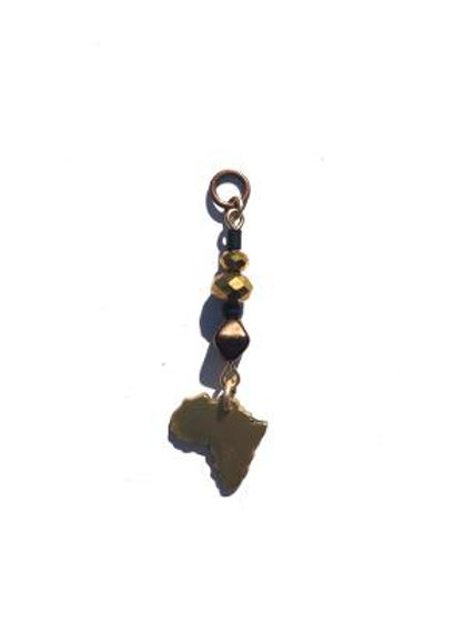 home abroad bronze crystal & brass africa loc charm