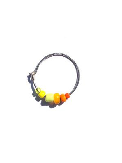 summertime sunset sterling silver hoop