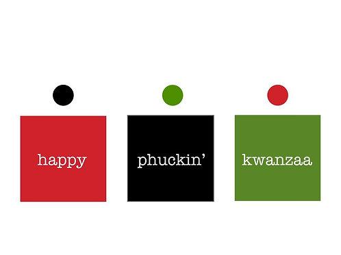happy phuckin' kwanzaa candle greeting card