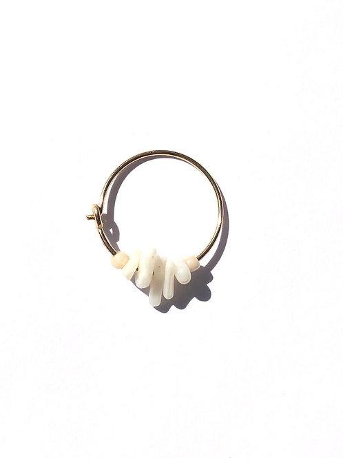single scoop vanilla ice cream acrylic mini hoop