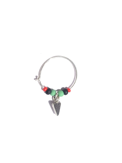 get i to it red, black & green glass mini hoop with spear