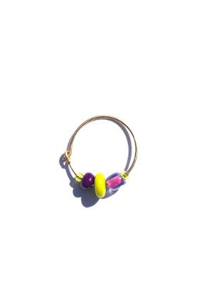 hot air balloon purple & lime small single hoop