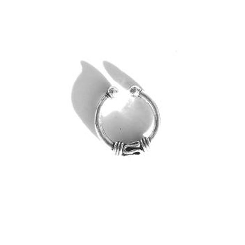 hug it out sterling silver faux septum ring
