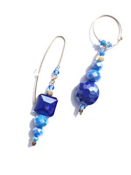 star bright cornflower & navy blue crystal earrings