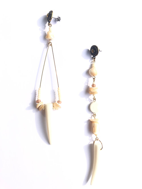walk in the park bone & abalone shell earrings