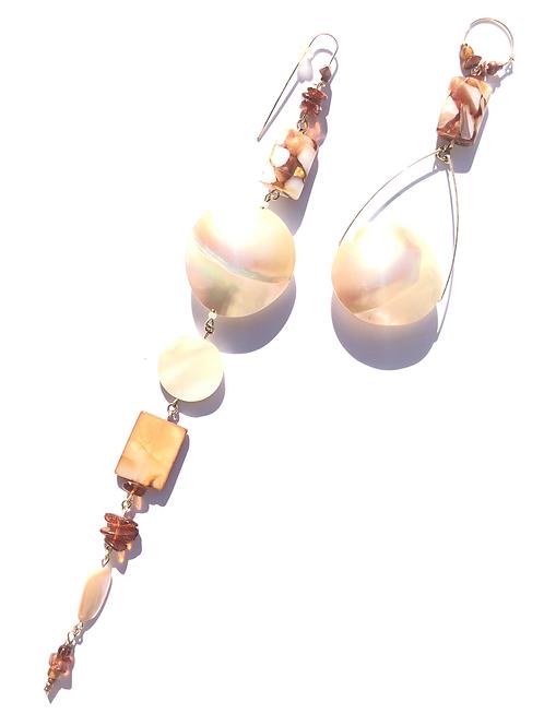 cloud of joy mother of pearl & resin earrings